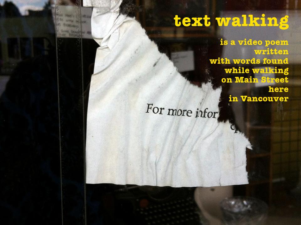 text walking (on Main Street)